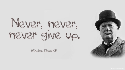 Afbeeldingsresultaat voor churchill never never give up